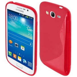 Funda Movil Back Cover HT S-CASE Solid red para Galaxy S Advance I9070