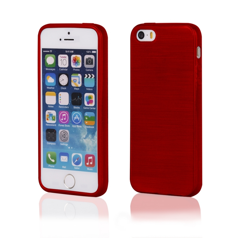 7c98cf42488 FUNDA MOVIL BACK COVER HT METALLIC JELLY RED PARA IPHONE 5/5S - 90056778