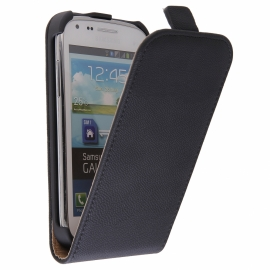 Funda Movil HT Vertical Exclusive Black para Samsung Galaxy Core I8260