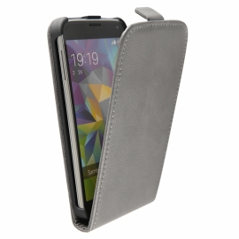 Funda Movil HT Vertical Exclusive Grey para Samsung Galaxy S5 G900
