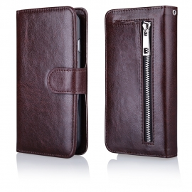 Funda Movil HT Wallet Zipper Brown para iPhone 6