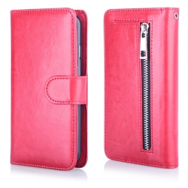 Funda Movil HT Wallet Zipper red para iPhone 6