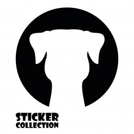 Sticker Adhesivo para Portatil HT DOG Black