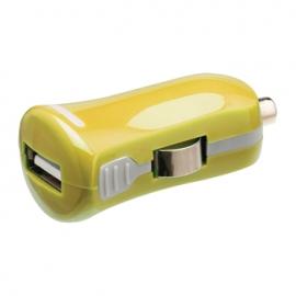 Cargador USB HT 5V 2.1A Yellow para Coche