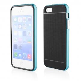 Funda Movil Back Cover HT Bumper Hybrid Black/Blue para iPhone 5/5S