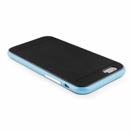 Funda Movil Back Cover HT Bumper Hybrid Black/Blue para iPhone 6