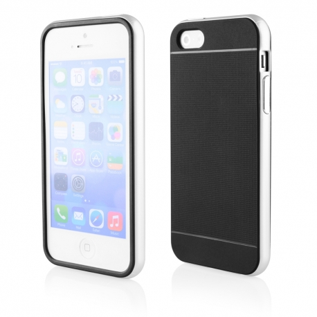 Funda Movil Back Cover HT Bumper Hybrid Black/White para iPhone 5/5S