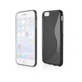 Funda Movil Back Cover HT S-CASE Solid Black para iPhone 6/6S Plus
