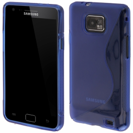 Funda Movil Back Cover HT S-CASE Solid Blue para Galaxy S2 I9100