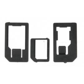 Adaptador Universal HT SIM para Nanosim Y Microsim Black