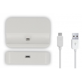Base Dock HT Stand Micro USB White + Cable