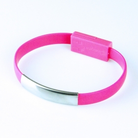 Cable HT USB / Micro USB Tipo Pulsera 0.2M Pink