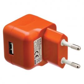 Cargador USB HT 5V 2.1A Orange para Casa