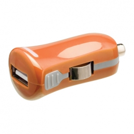 Cargador USB HT 5V 2.1A Orange para Coche
