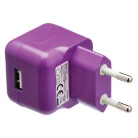 Cargador USB HT 5V 2.1A Purple para Casa