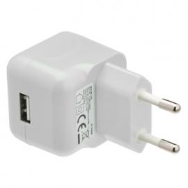 Cargador USB HT 5V 2.1A White para Casa