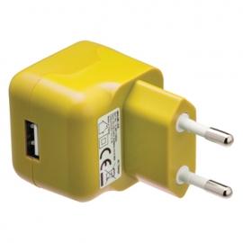 Cargador USB HT 5V 2.1A Yellow para Casa
