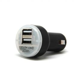 Cargador USB HT 5V 2Xusb para Coche