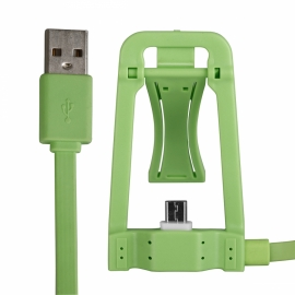 Dock HT Green + Cable Micro USB