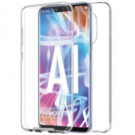 Funda Movil Back + Front Cover HT Silicona 3D Transparente para Huawei Mate 20 Lite