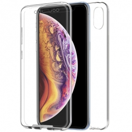Funda Movil Back + Front Cover HT Silicona 3D Transparente para iPhone XS MAX
