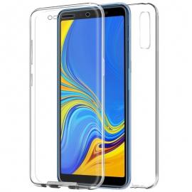 Funda Movil Back + Front Cover HT Silicona 3D Transparente para Samsung A7 A750