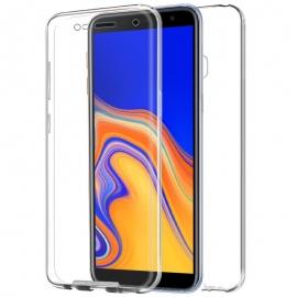 Funda Movil Back + Front Cover HT Silicona 3D Transparente para Samsung J4 J415