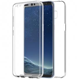 Funda Movil Back + Front Cover HT Silicona 3D Transparente para Samsung S8