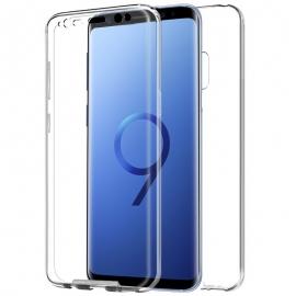 Funda Movil Back + Front Cover HT Silicona 3D Transparente para Samsung S9 G960