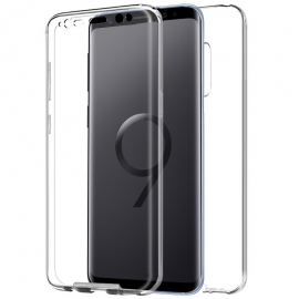 Funda Movil Back + Front Cover HT Silicona 3D Transparente para Samsung S9+ G965