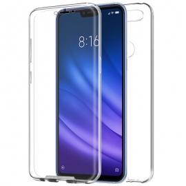 Funda Movil Back + Front Cover HT Silicona 3D Transparente para Xiaomi mi 8 Lite