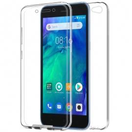 Funda Movil Back + Front Cover HT Silicona 3D Transparente para Xiaomi Redmi GO