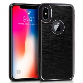 Funda Movil Back Cover HT Aluminio Black para iPhone X / XS