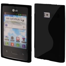 Funda Movil Back Cover HT S-CASE Solid Black para LG L3 E400