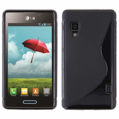 Funda Movil Back Cover HT S-CASE Solid Black para LG L5 II Dual E455