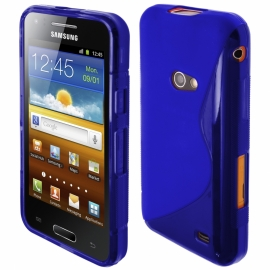 Funda Movil Back Cover HT S-CASE Solid Blue para Galaxy Beam I8530