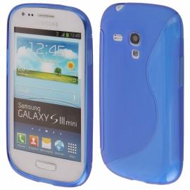 Funda Movil Back Cover HT S-CASE Solid Blue para Galaxy S3 Mini I8190