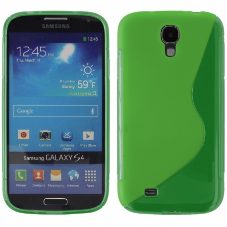 Funda Movil Back Cover HT S-CASE Solid Green para Galaxy S4 I9500