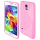 Funda Movil Back Cover HT S-CASE Solid Pink para Galaxy S4 I9500