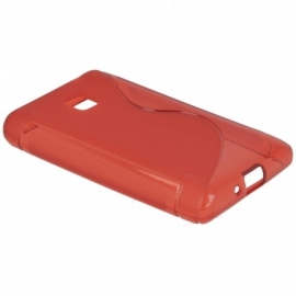 Funda Movil Back Cover HT S-CASE Solid red para LG L3 E400