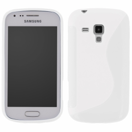 Funda Movil Back Cover HT S-CASE Solid White para Galaxy Y PRO B5510
