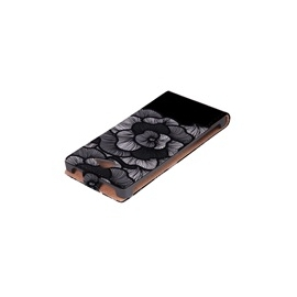 Funda Movil HT Vertical Case Printings OOH! Black Flower para Nexus 4