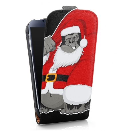 Funda Movil HT Vertical Case Printings OOH! Gorilla Noel para Galaxy S4 I9500
