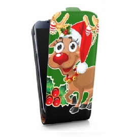 Funda Movil HT Vertical Case Printings OOH! Rudolf para Galaxy S4 I9500