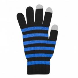Guantes HT Pantalla Tactil Black/Blue Talla L