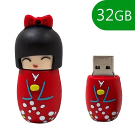 Memoria USB HT Figuras 32GB Doll red