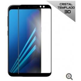 Protector de Pantalla HT Cristal Templado 3D Black para Samsung Galaxy A8 2018