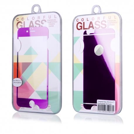 Protector de Pantalla HT Cristal Templado Front + Back Shiny Purple para iPhone 6/6S Plus