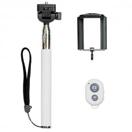 Soporte Selfie HT + Disparador Bluetooth White