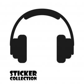 Sticker Adhesivo para Portatil HT Headphone Black